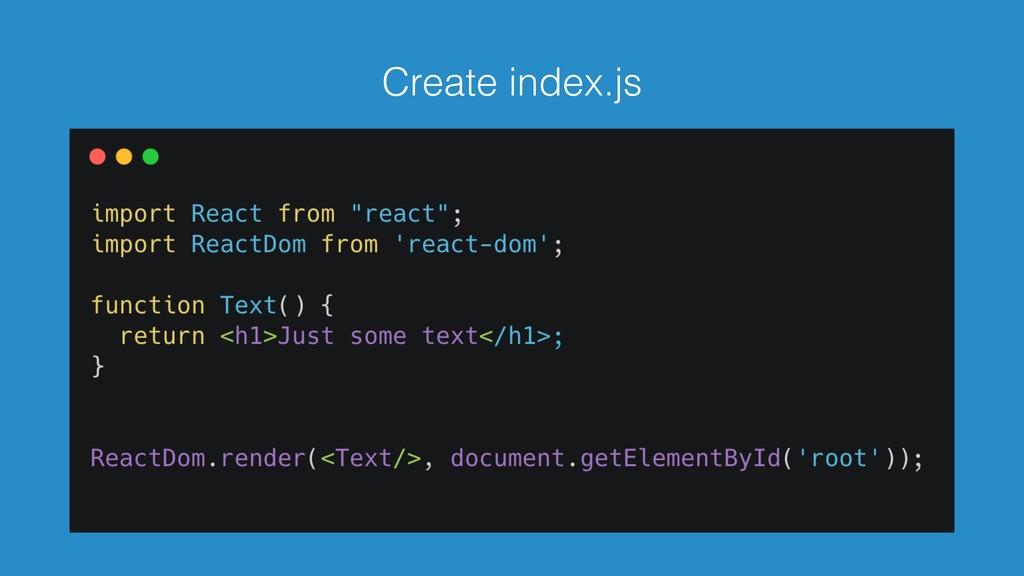 Create index.js