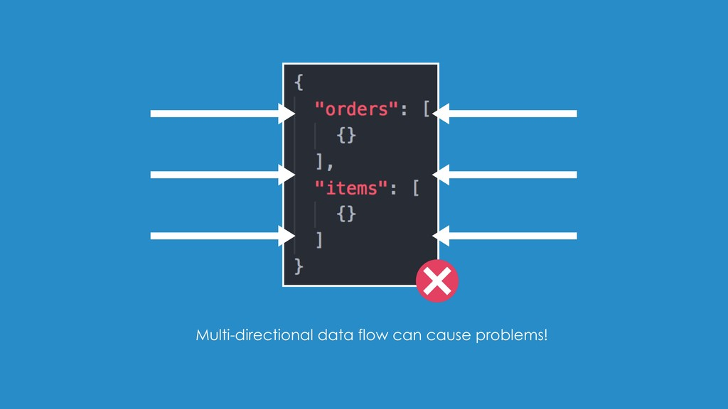 Multi-directional data flow can cause problems!