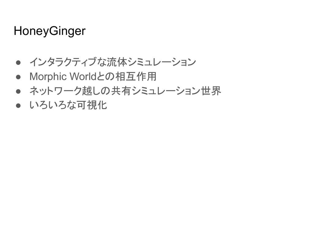 HoneyGinger ● インタラクティブな流体シミュレーション ● Morphic Wor...