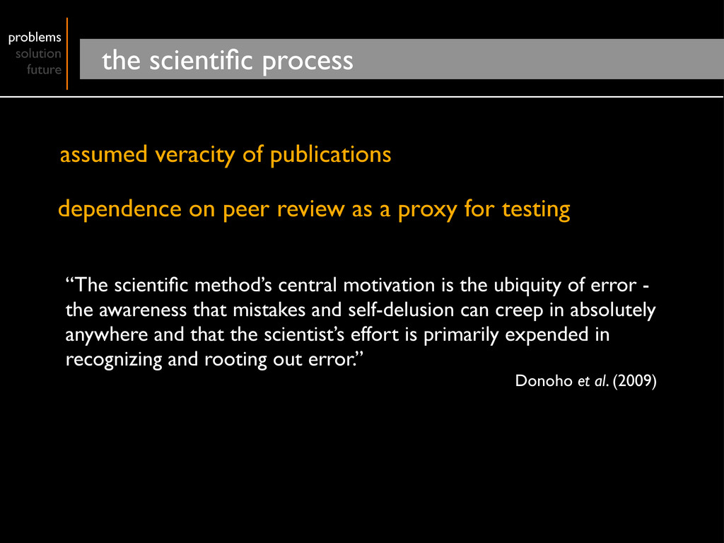 problems solution future the scientific process ...