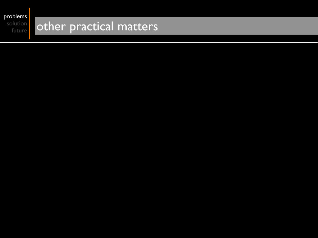 problems solution future other practical matters