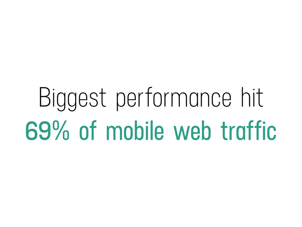 Biggest performance hit 69% of mobile web traff...