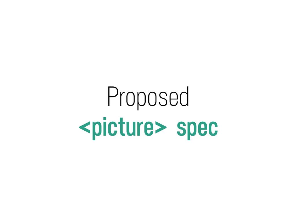 Proposed <picture> spec