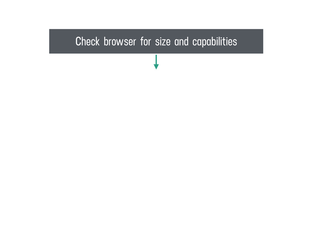 Check browser for size and capabilities