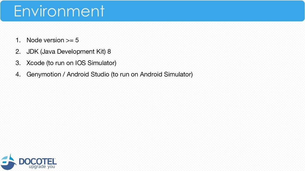 1. Node version >= 5 2. JDK (Java Development K...