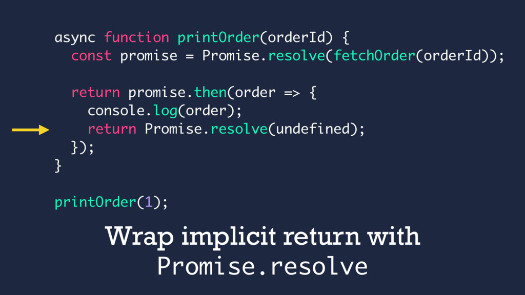 async function printOrder(orderId) { const prom...