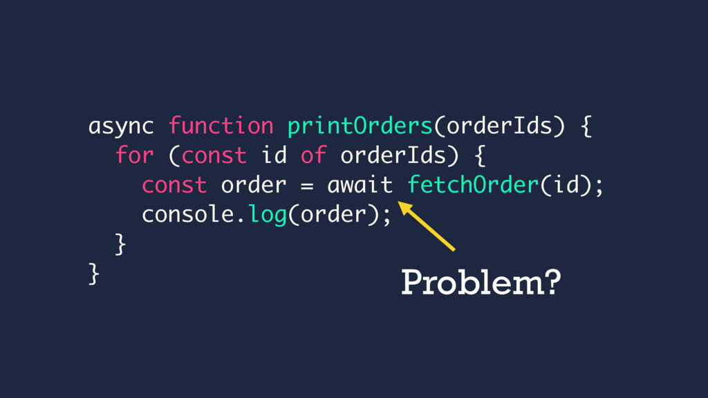 async function printOrders(orderIds) { for (con...