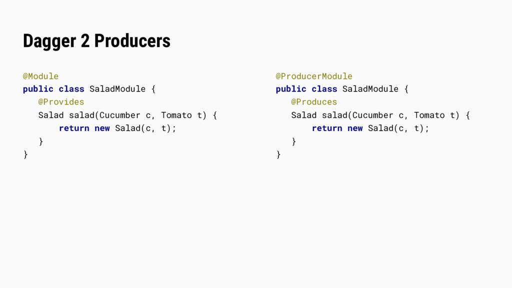 Dagger 2 Producers @Module public class SaladMo...