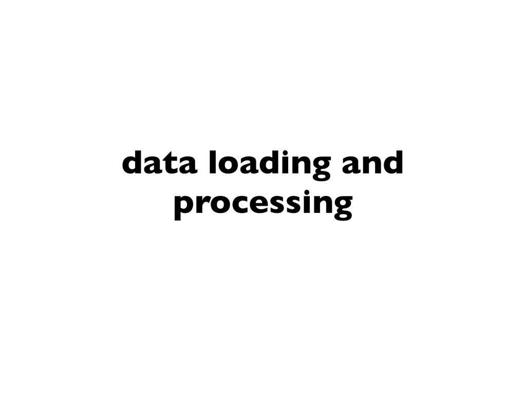 data loading and processing