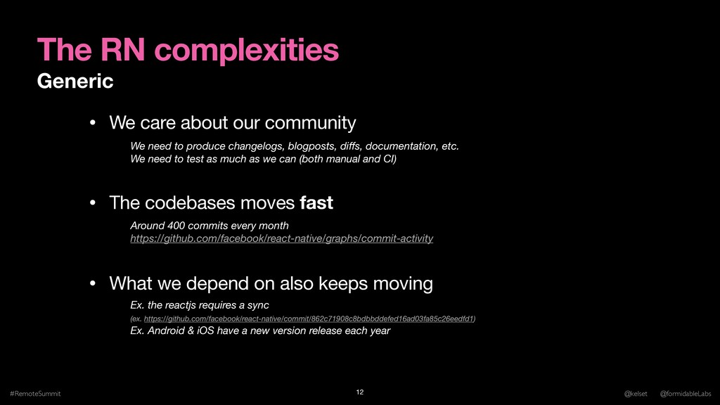 The RN complexities Generic #RemoteSummit @kels...