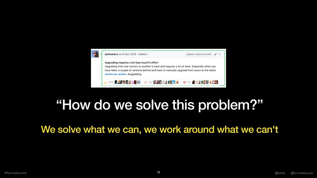 """""""How do we solve this problem?"""" #RemoteSummit @..."""