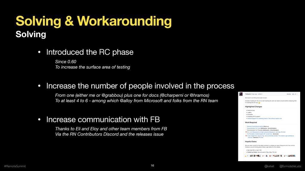 Solving & Workarounding Solving #RemoteSummit @...