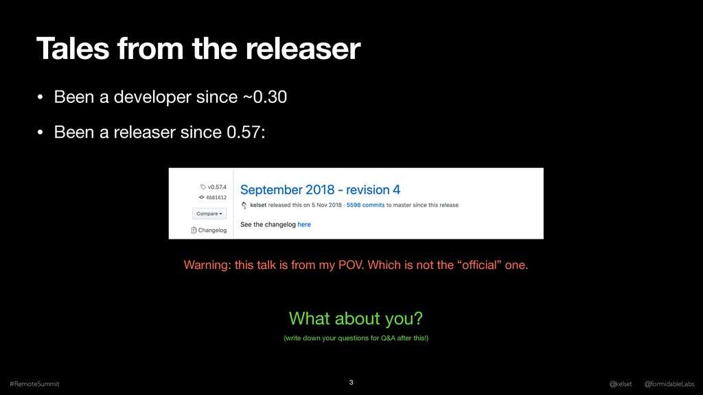 Tales from the releaser • Been a developer sinc...