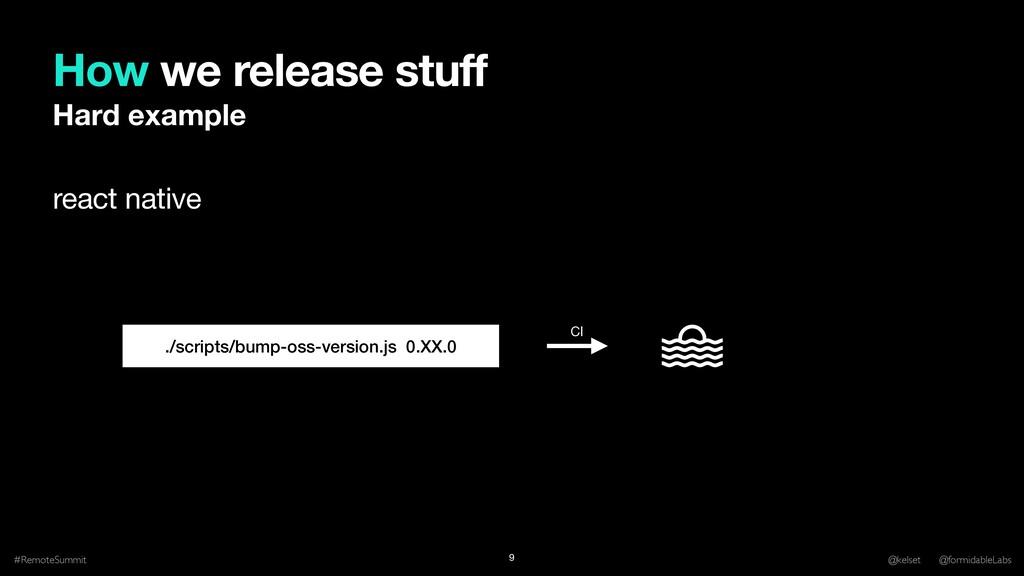 How we release stuff #RemoteSummit @kelset @for...