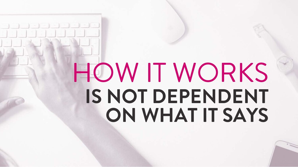 @marktimemedia HOW IT WORKS IS NOT DEPENDENT ON...