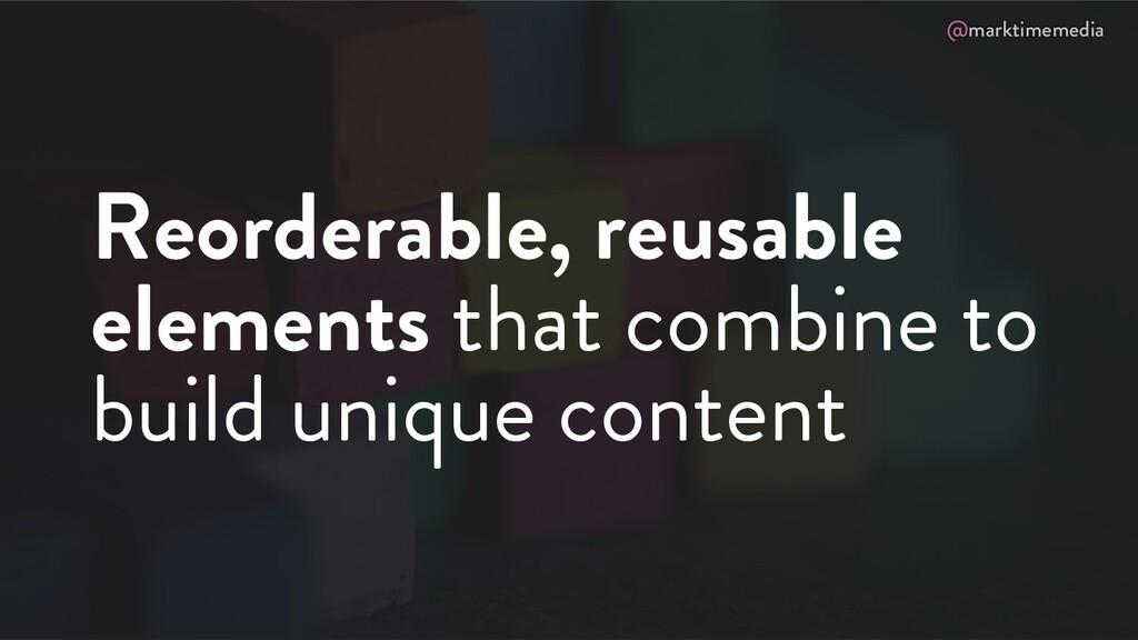 @marktimemedia Reorderable, reusable elements t...