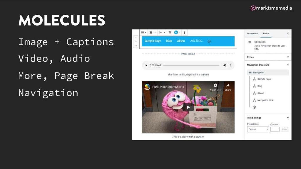 @marktimemedia MOLECULES Image + Captions Video...