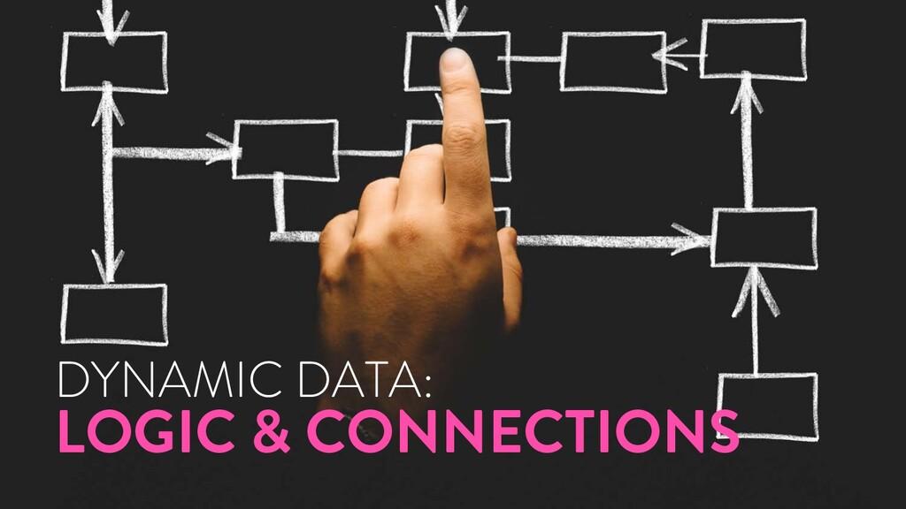@marktimemedia DYNAMIC DATA: LOGIC & CONNECTIONS