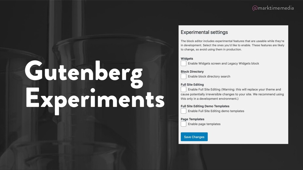 @marktimemedia Gutenberg Experiments