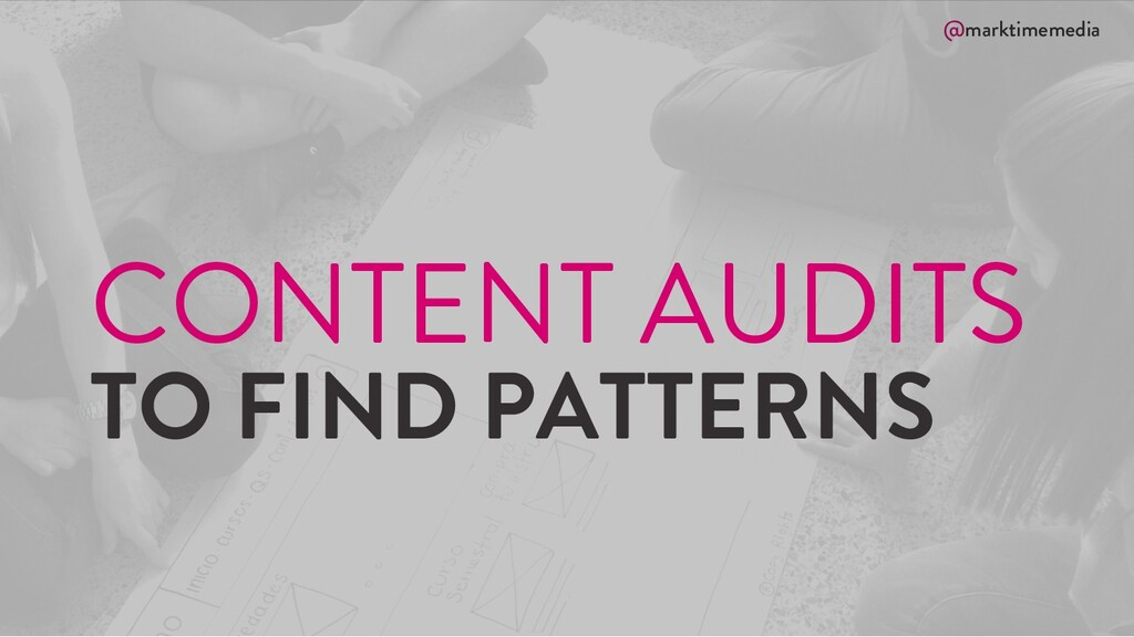 @marktimemedia CONTENT AUDITS TO FIND PATTERNS