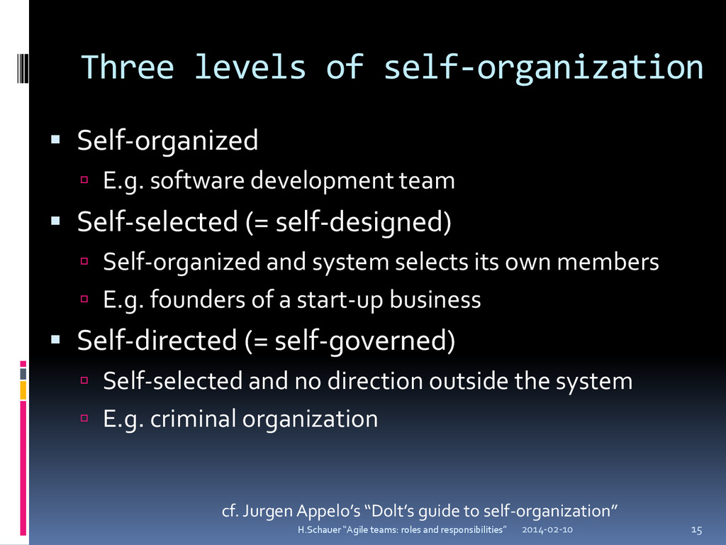 Three levels of self-organization  Self-organi...