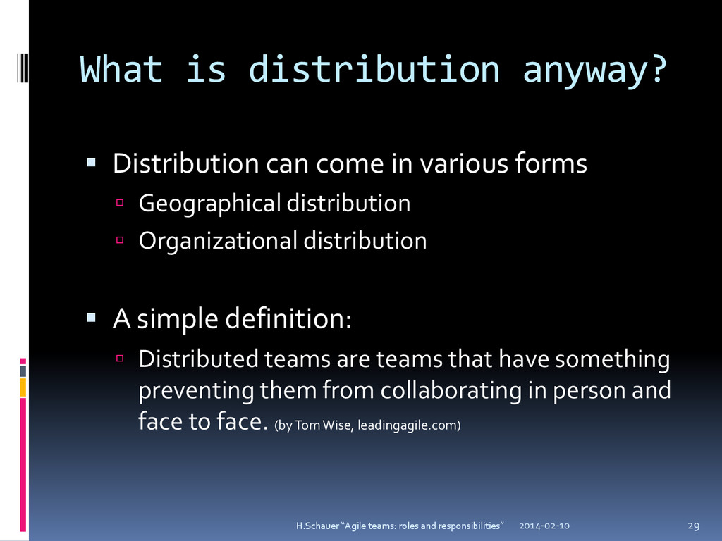 What is distribution anyway?  Distribution can...