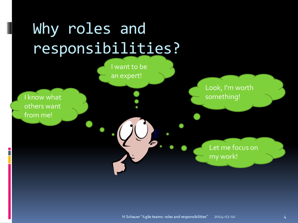 Why roles and responsibilities? I want to be an...
