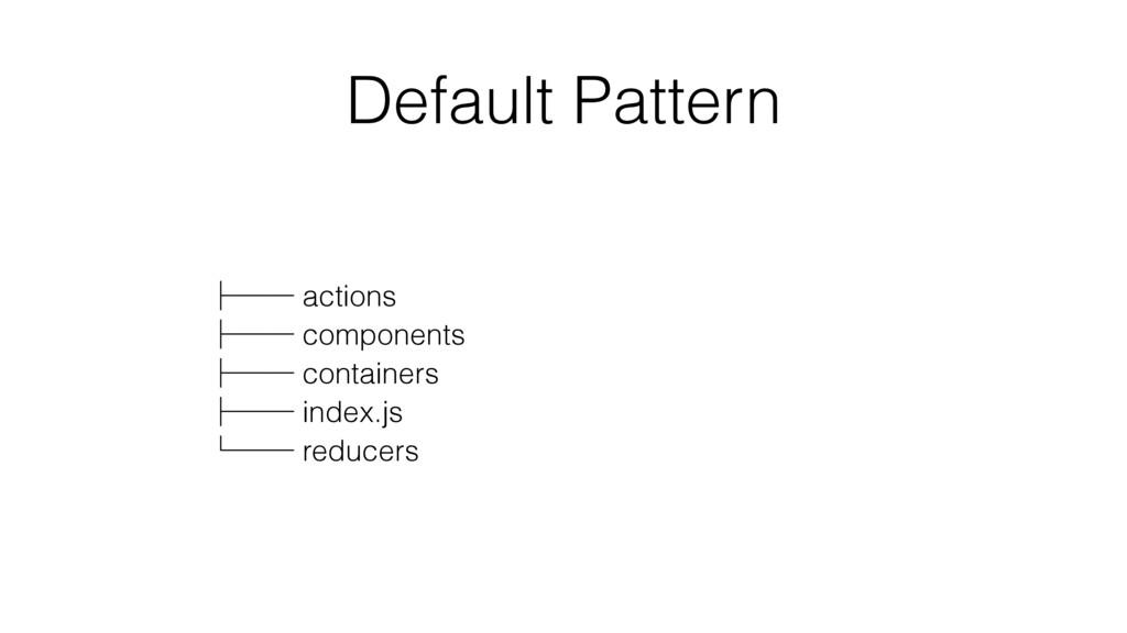Default Pattern ʮʒʒ actions ʮʒʒ components ʮʒʒ ...