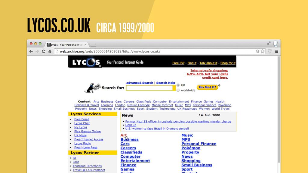 LYCOS.CO.UK CIRCA 1999/2000