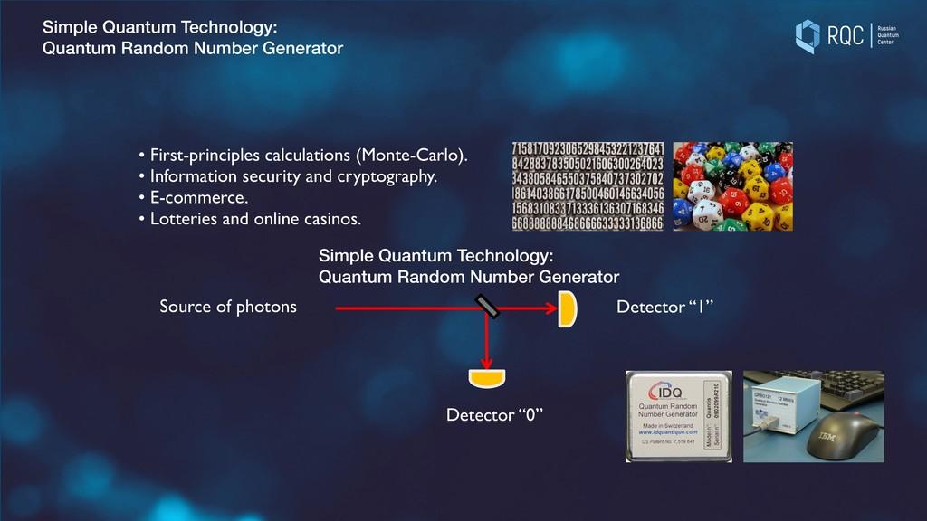 Simple Quantum Technology: Quantum Random Numbe...