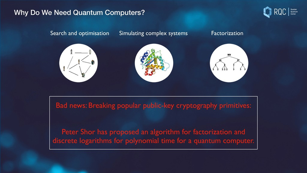 Why Do We Need Quantum Computers? Search and op...