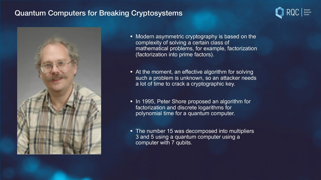 Quantum Computers for Breaking Cryptosystems § ...