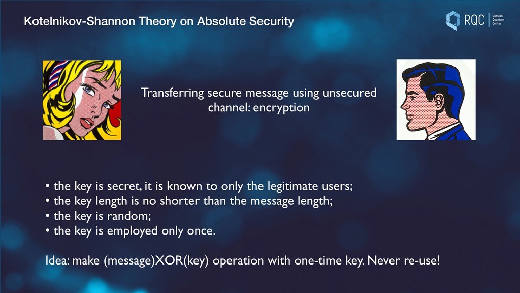 Kotelnikov-Shannon Theory on Absolute Security ...
