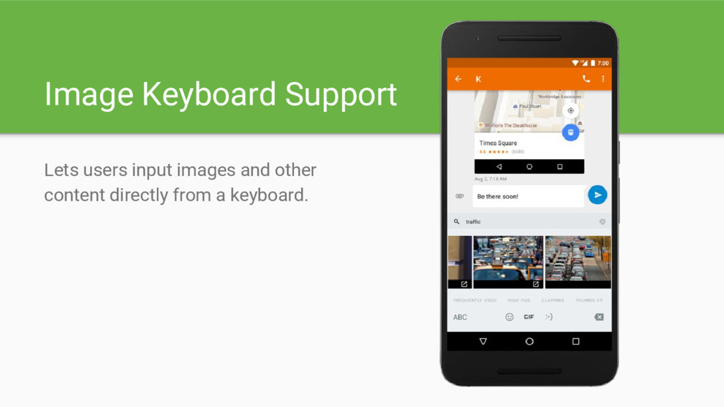 Image Keyboard Support Lets users input images ...