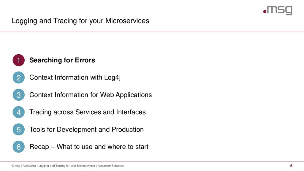 Logging and Tracing for your Microservices © ms...