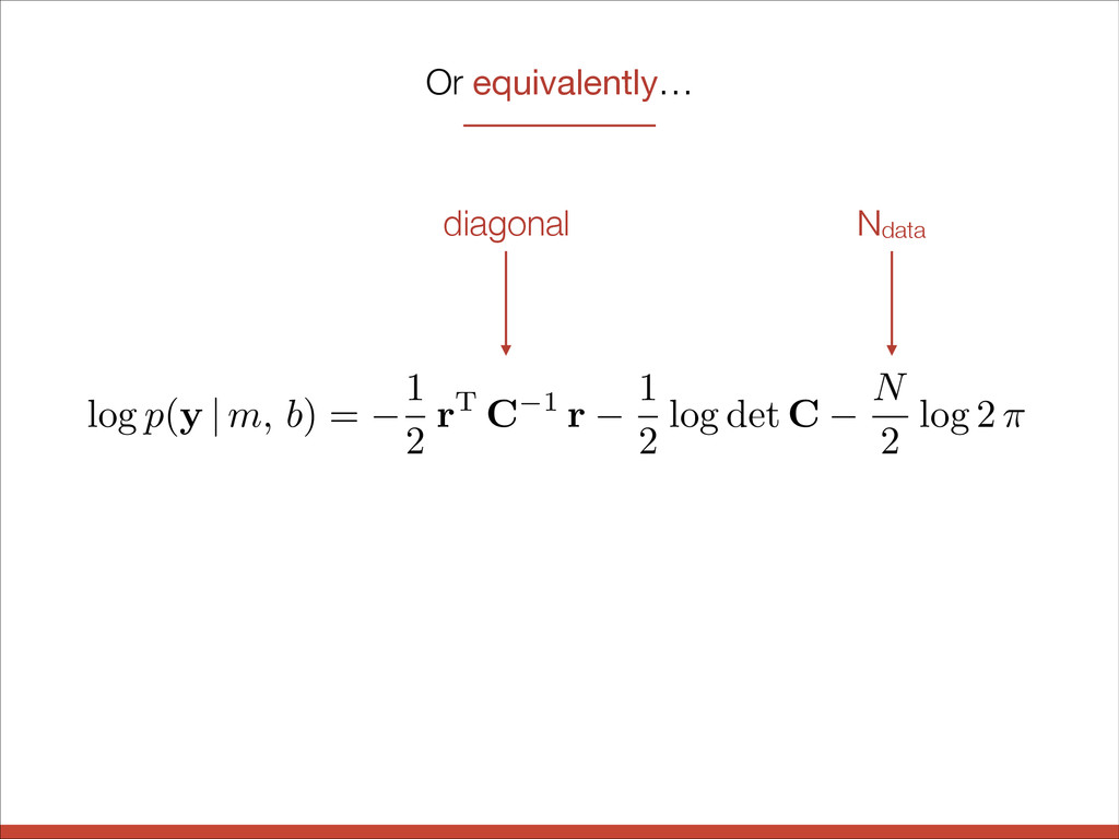 Or equivalently… log p ( y | m, b ) = 1 2 rT C ...