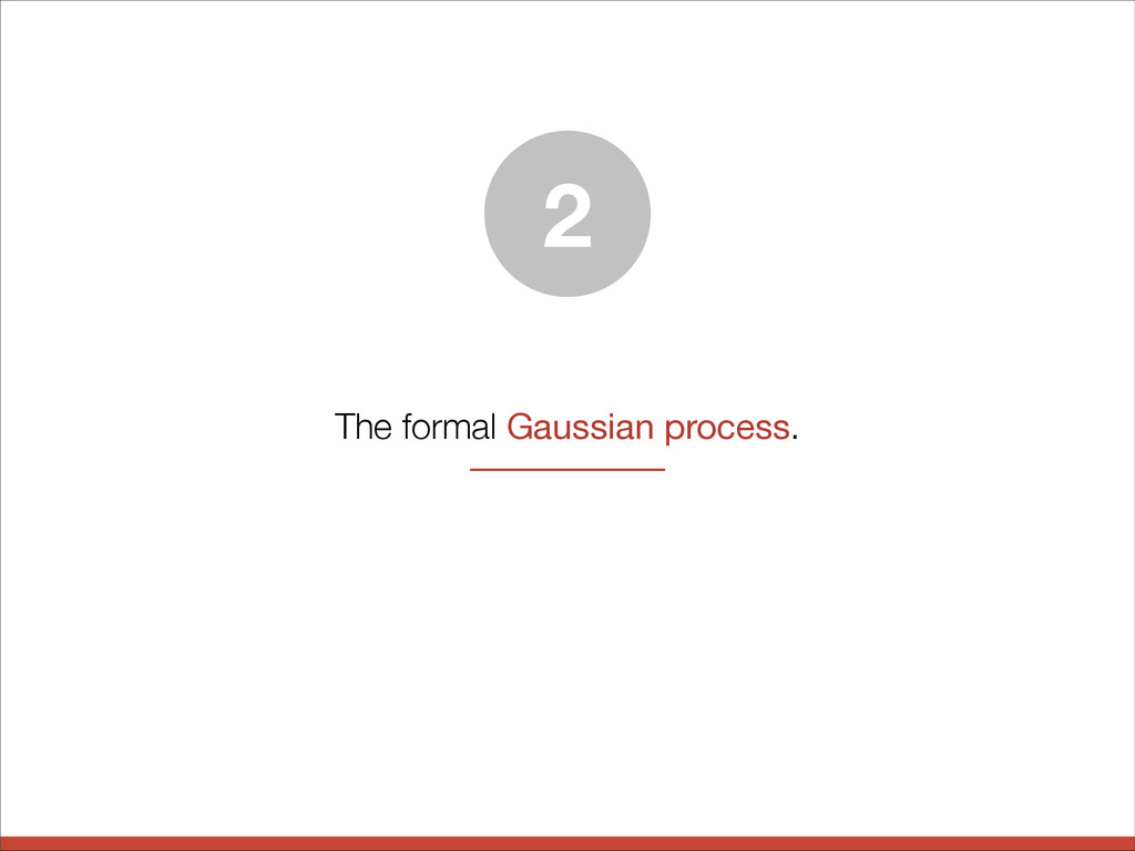 The formal Gaussian process. 2