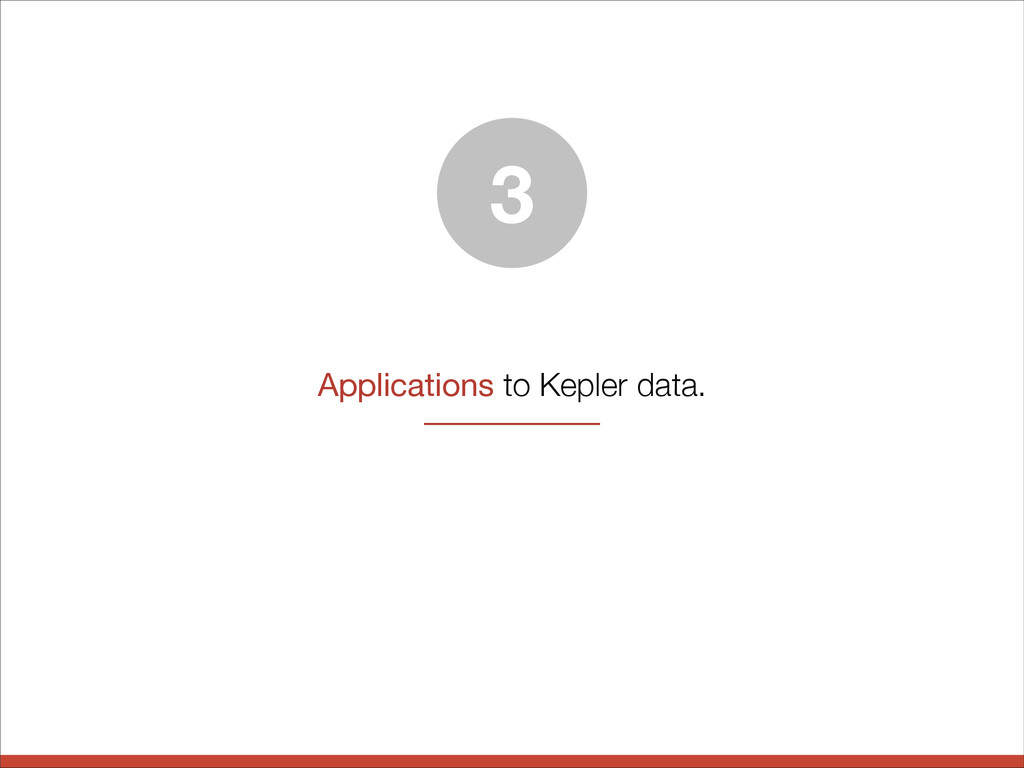 Applications to Kepler data. 3