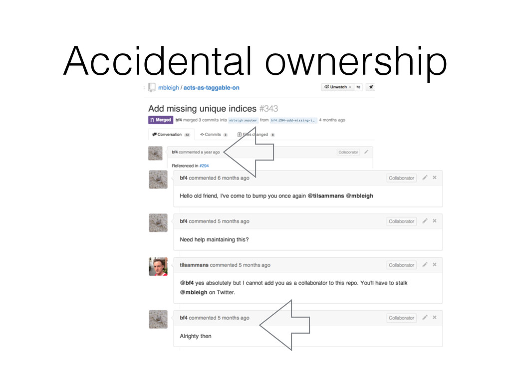 Accidental ownership