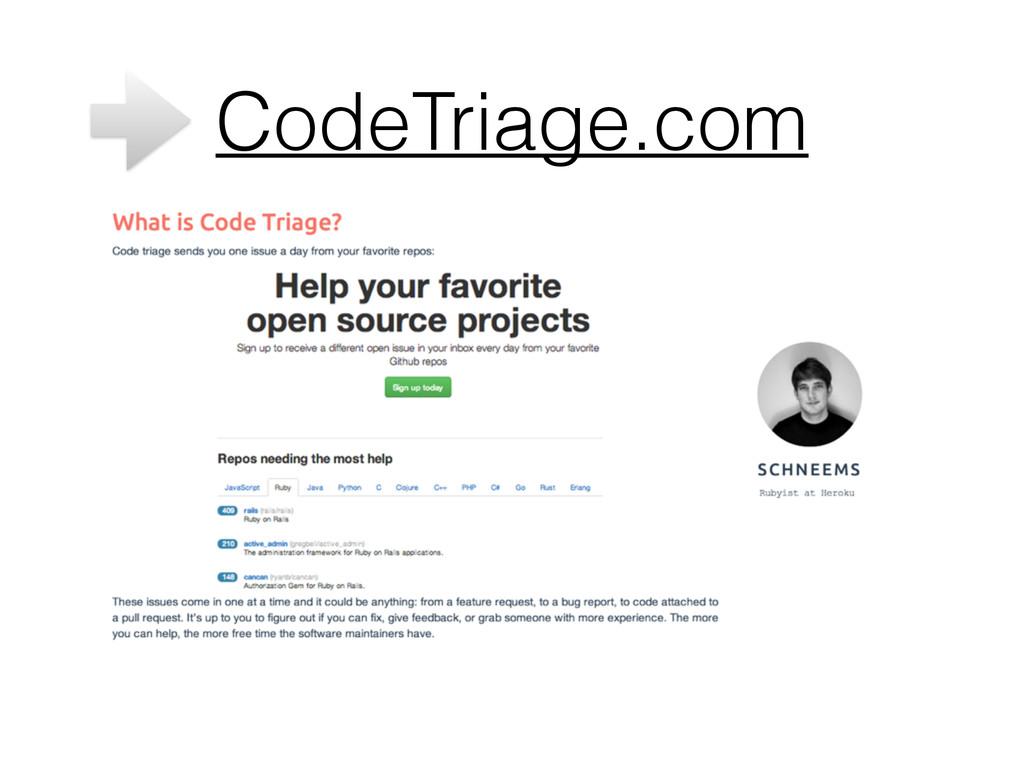 CodeTriage.com