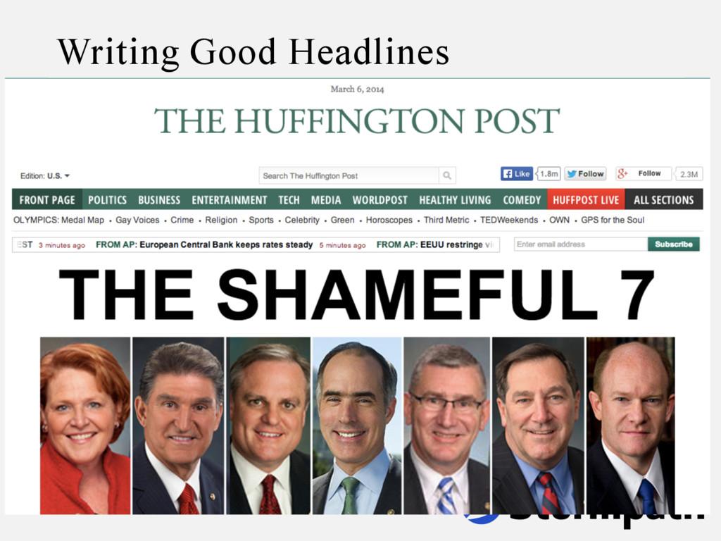 Writing Good Headlines