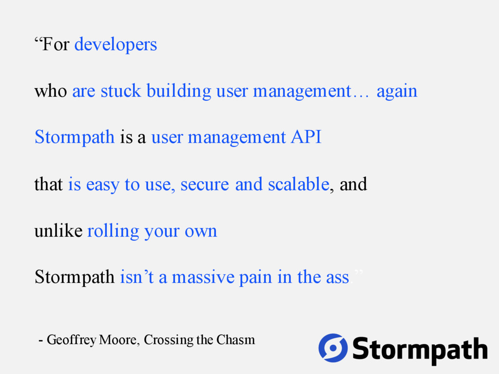 """""""For developers who are stuck building user man..."""