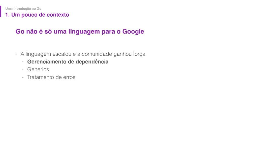 Go não é só uma linguagem para o Google - A lin...