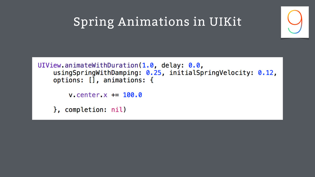 Spring Animations in UIKit