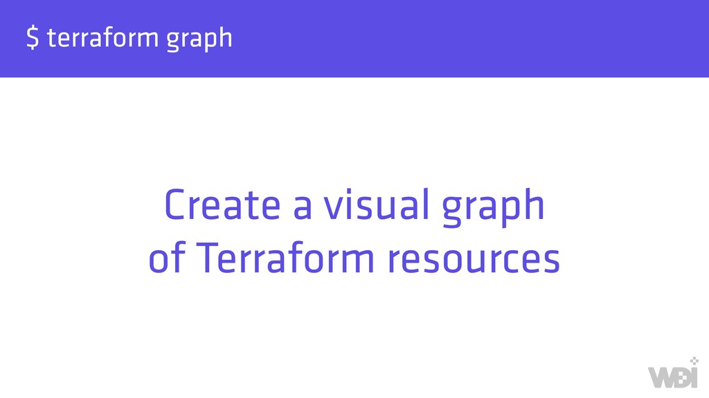 $ terraform graph Create a visual graph of Ter...