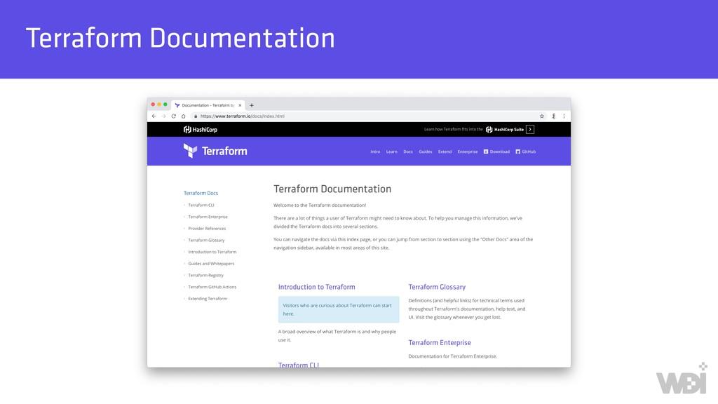 Terraform Documentation