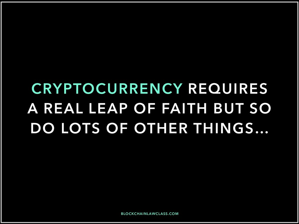 BLOCKCHAINLAWCLASS.COM CRYPTOCURRENCY REQUIRES ...