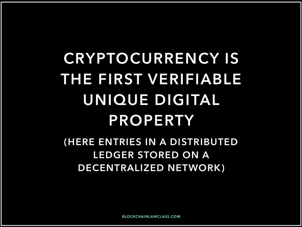 CRYPTOCURRENCY IS THE FIRST VERIFIABLE UNIQUE D...