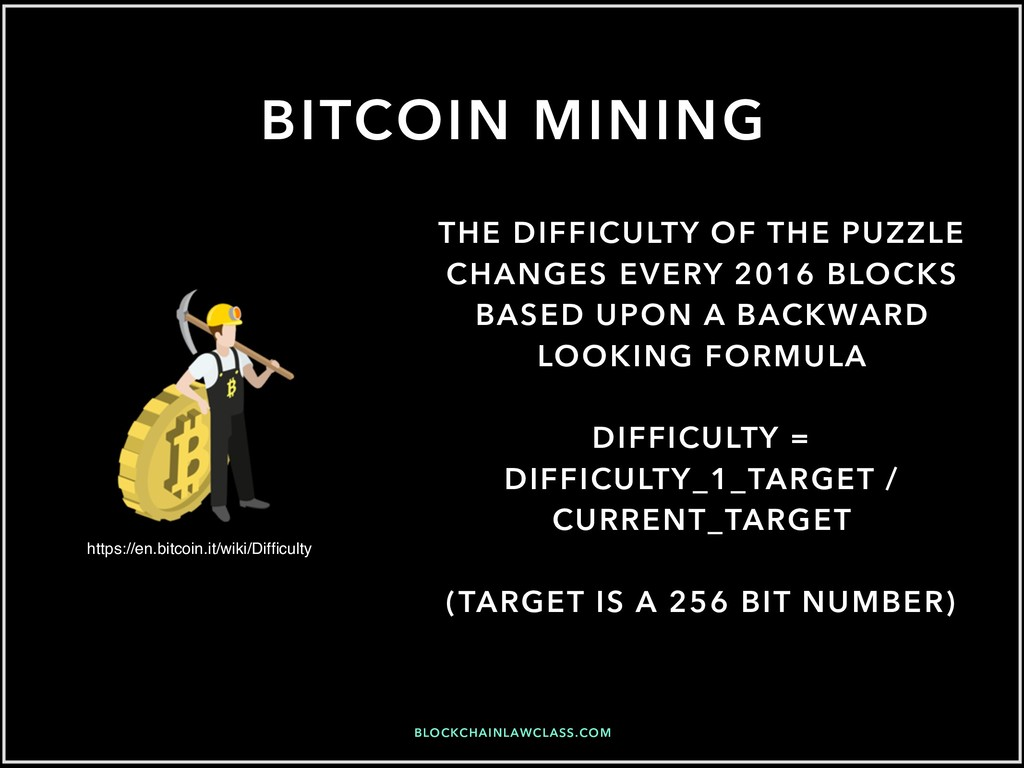 BITCOIN MINING THE DIFFICULTY OF THE PUZZLE CHA...