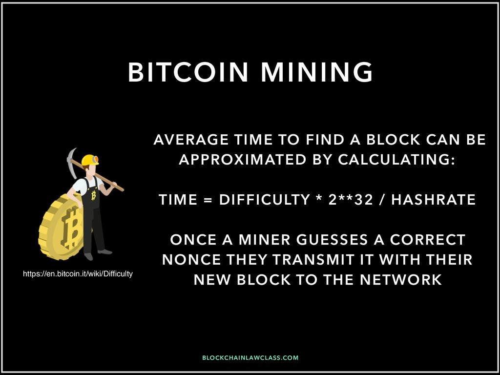 BITCOIN MINING AVERAGE TIME TO FIND A BLOCK CAN...